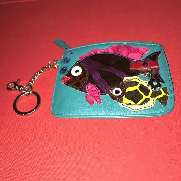 Fishy wristlet Coin Purse
